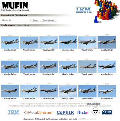 MUFIN image search screenshot