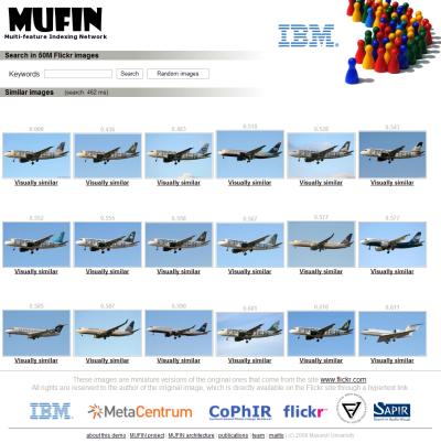 MUFIN image search screenshot