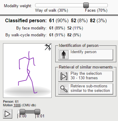 Screenshot of the Multi-modal Person Identification web application